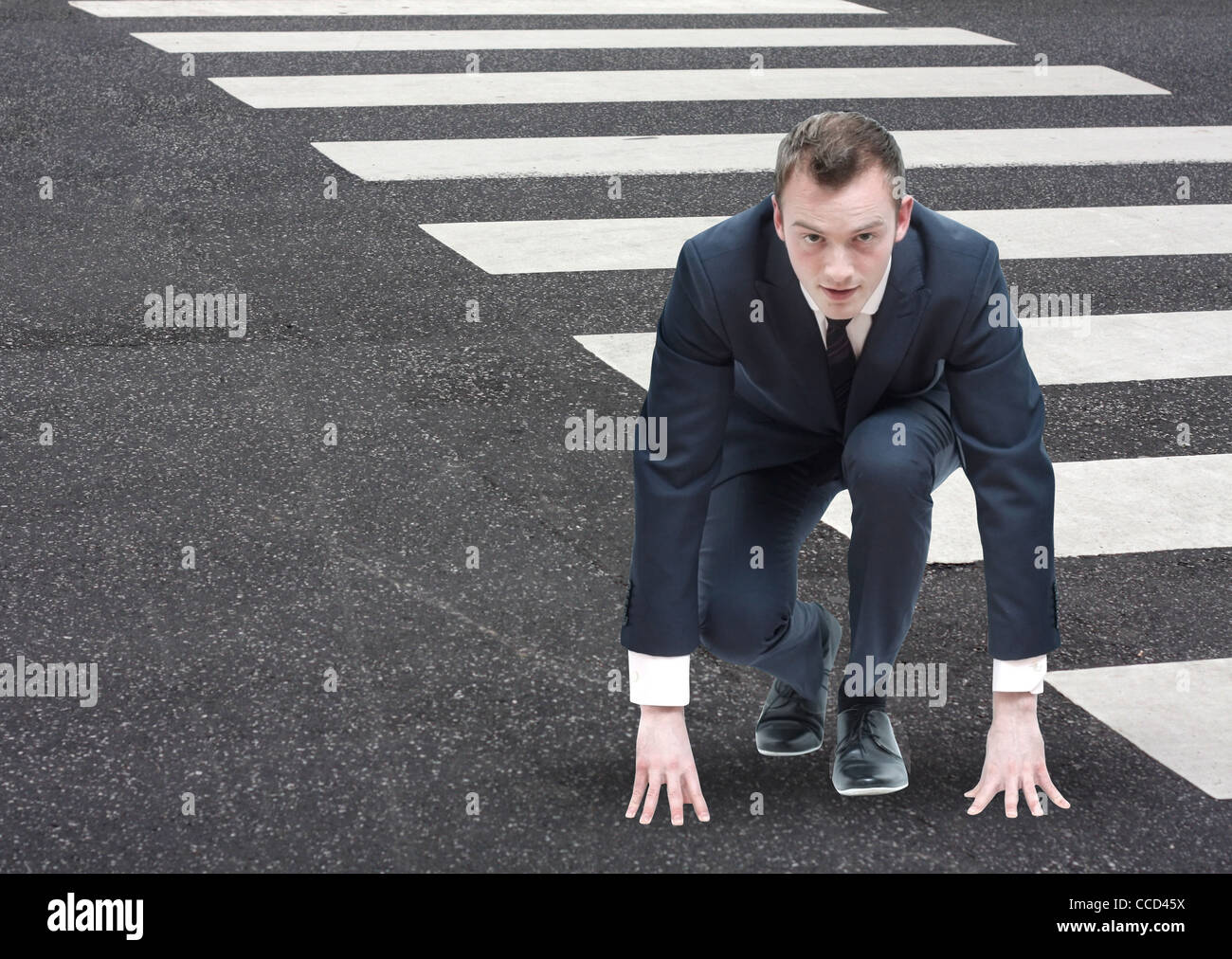 Competitive businessman - Stock Image