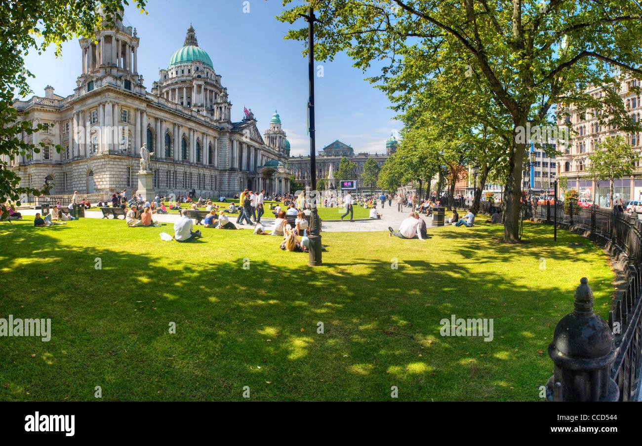 Belfast City Hall, Northern Ireland - Stock Image