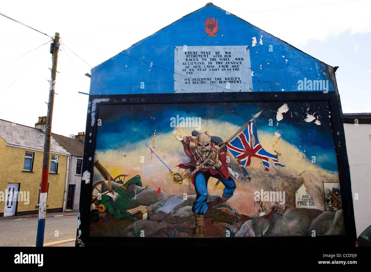 Loyalist, mural, Londonderry, Northern Ireland - Stock Image