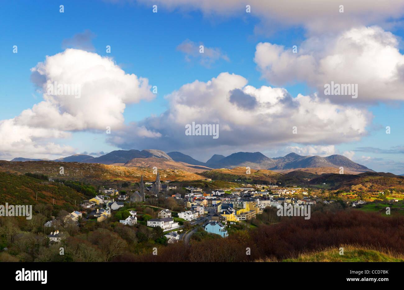 Clifden, Connemara, The Twelve Pins, Co. Galway, Ireland - Stock Image