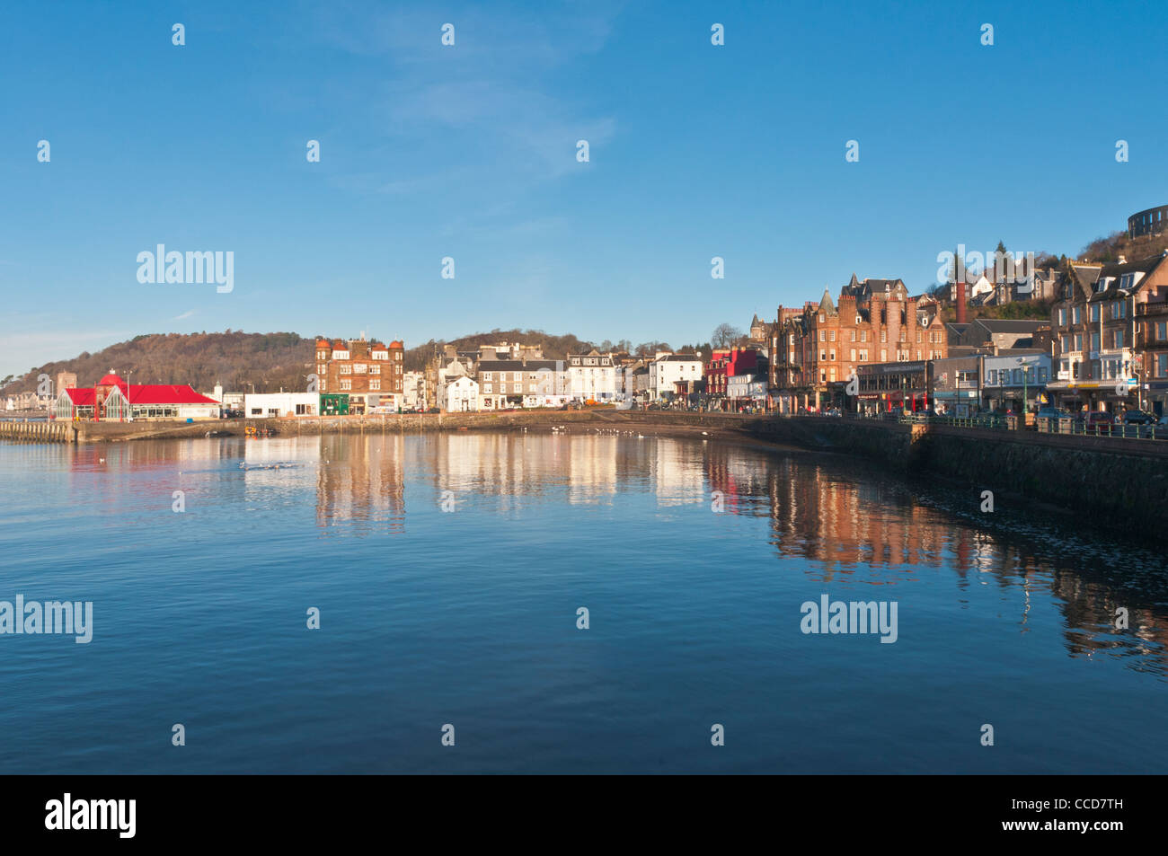 Oban Bay at Oban with pier Argyll & Bute Scotland - Stock Image