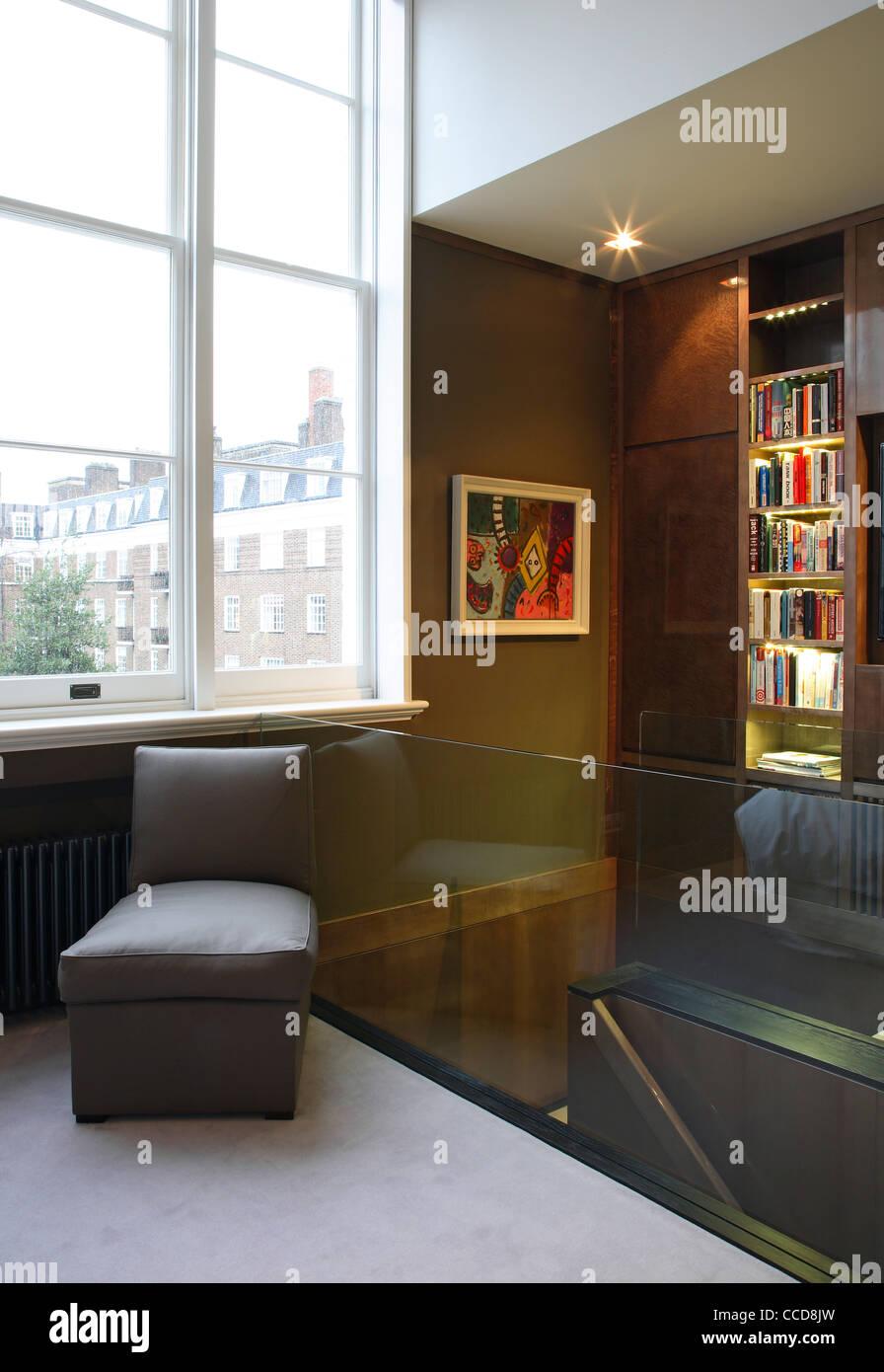 Private house, Stiff + Trevillion Architects Ltd, London, UK, 2010, Master bedroom - Stock Image