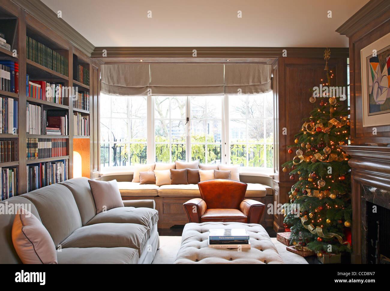 Private house, Stiff + Trevillion Architects Ltd, London, UK, 2010, Family room - Stock Image