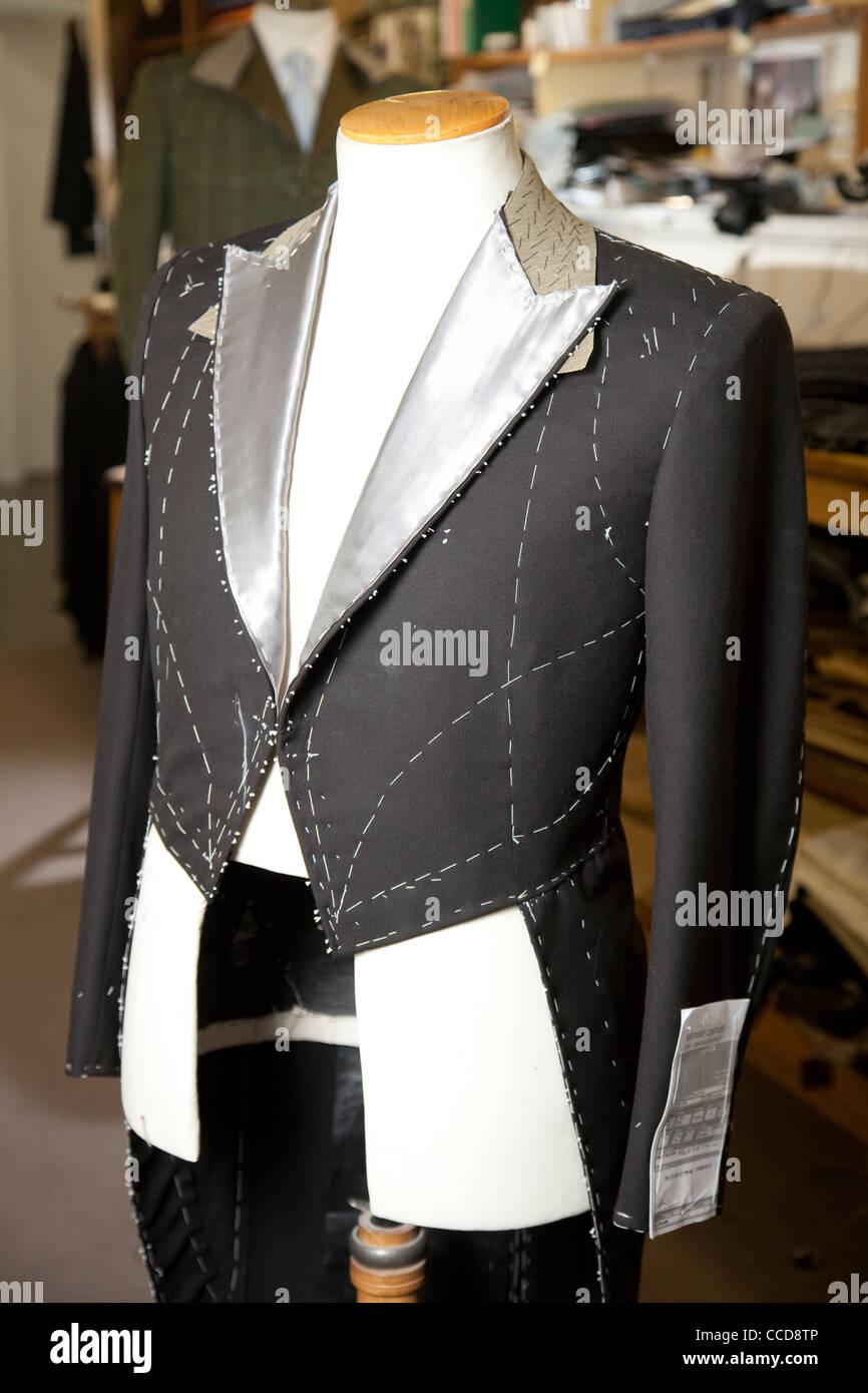 Bespoke tailoring at Kilgour on Savile Row, London, United Kingdom. Photo: Jeff Gilbert - Stock Image