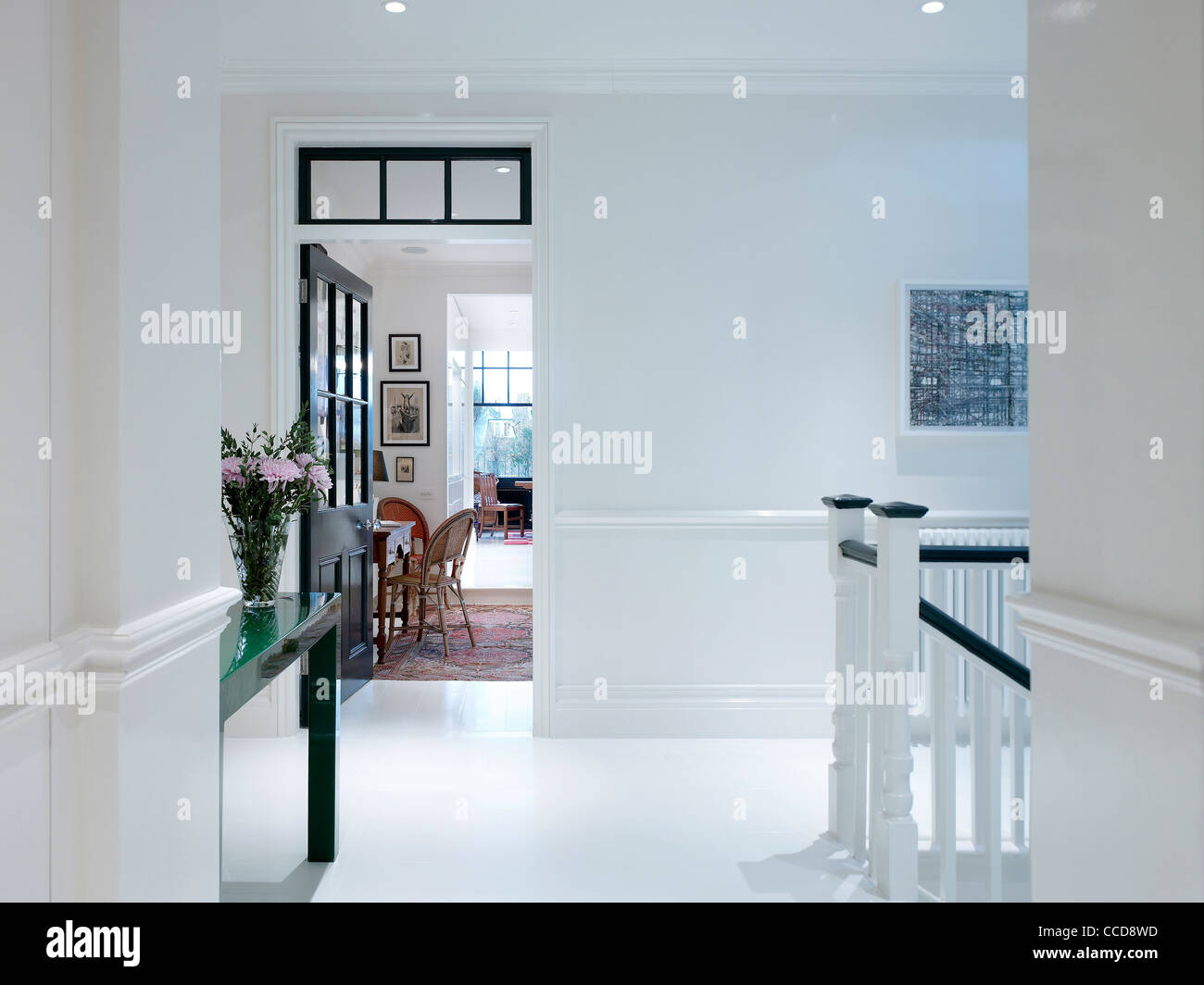 Refurbishment of an apartment in central london stock image