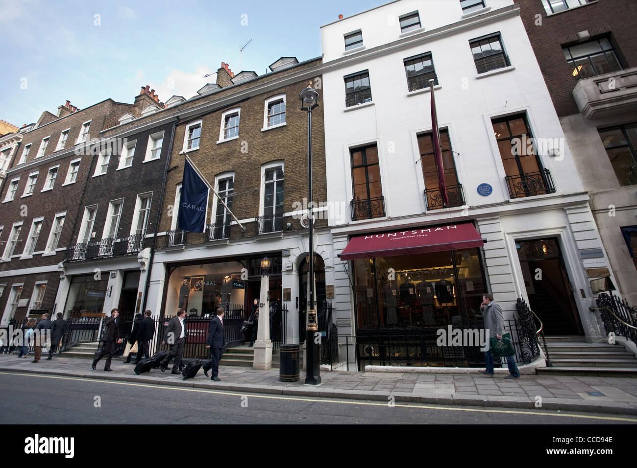 Savile Row, London, United Kingdom. Photo: Jeff Gilbert - Stock Image