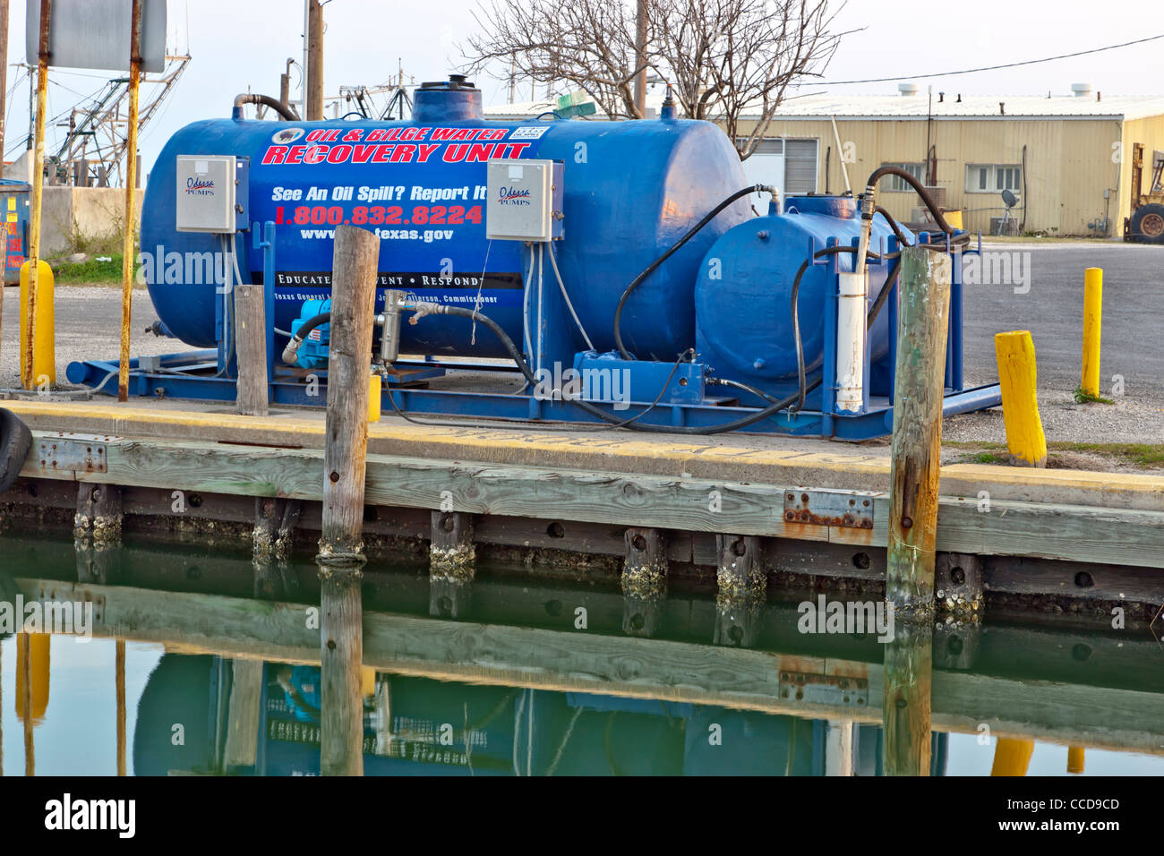 Oil & bilge water recovery unit. - Stock Image