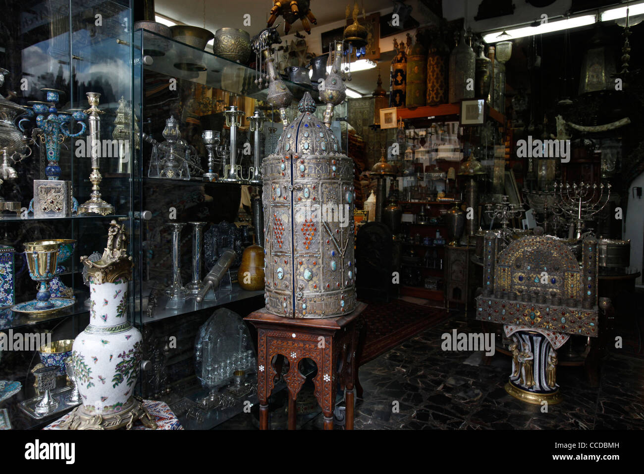 Judaica gift ware shop in West Jerusalem Israel Stock Photo