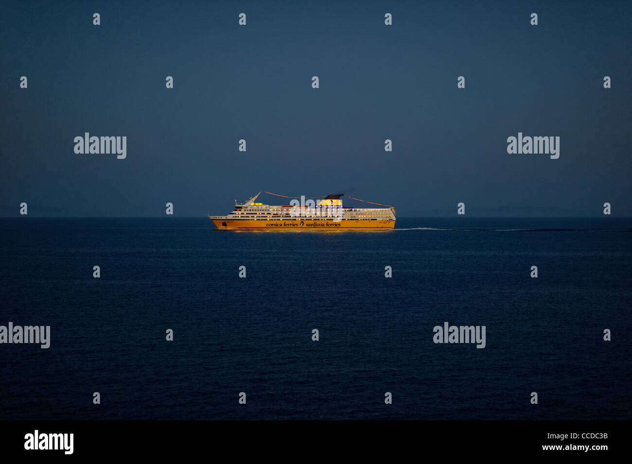 Sardinia Ferries ship, Olbia, Sardinia, Italy - Stock Image