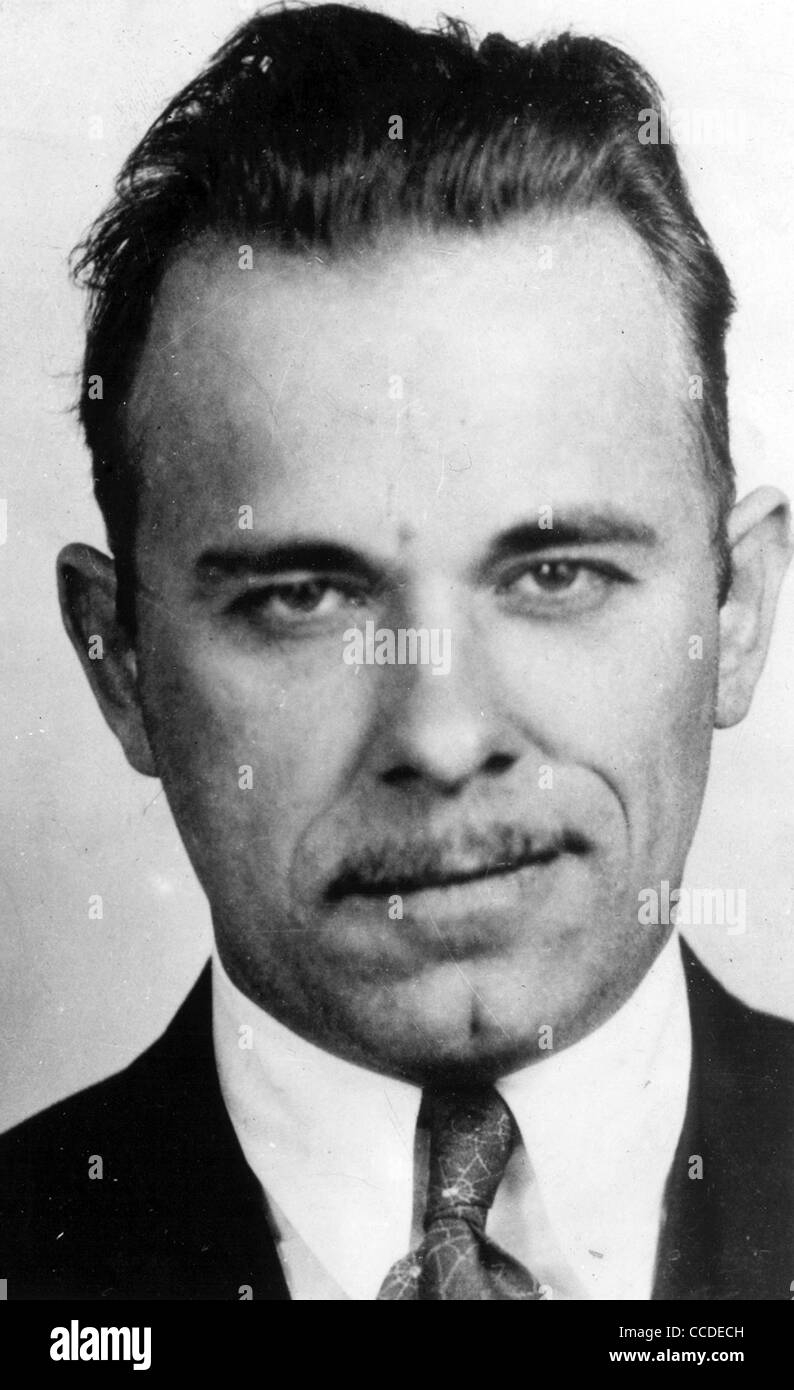 JOHN DILLINGER (1903-1934) US bank robber photographed in 1934 - Stock Image