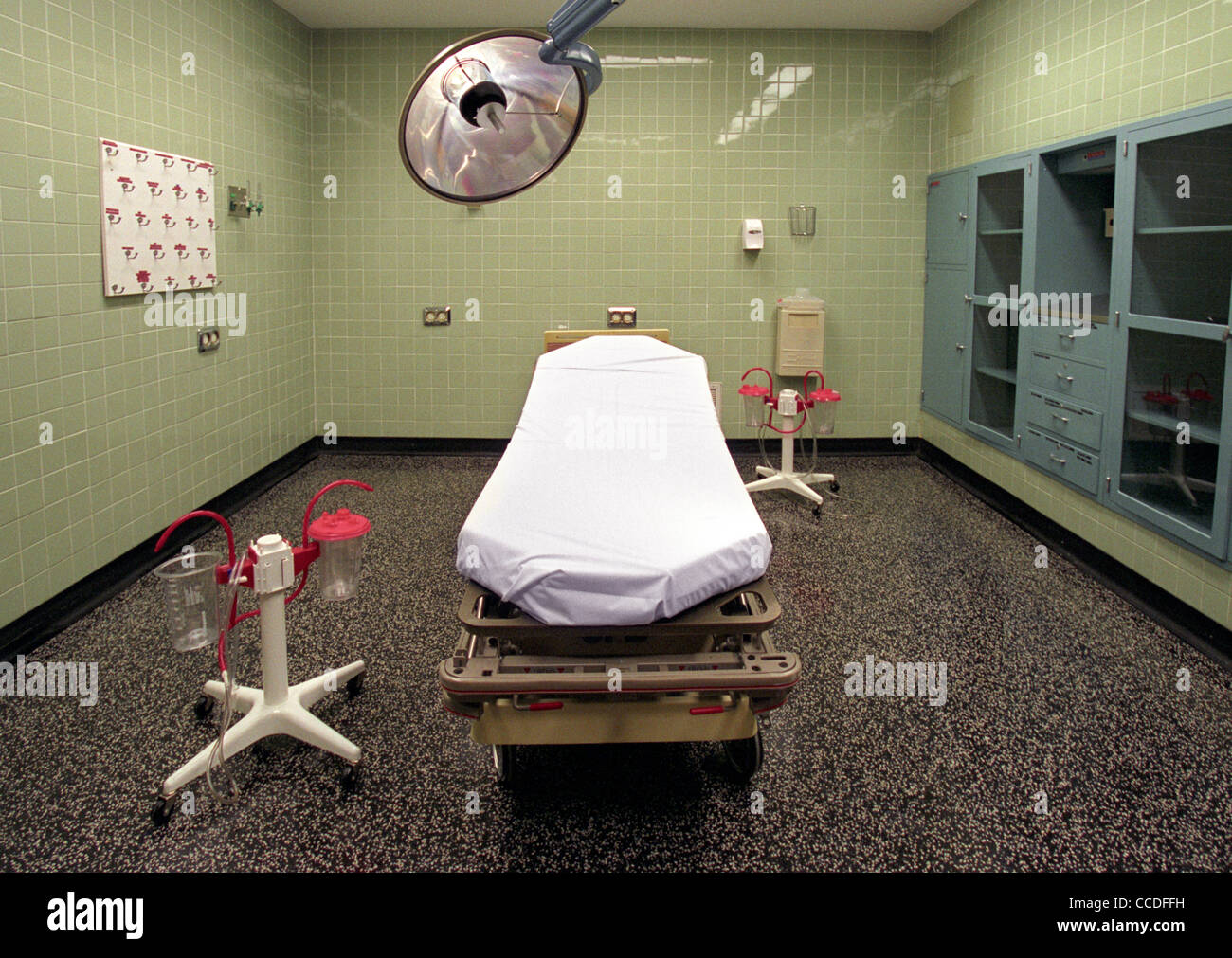An empty hospital OR operating room without a patient. - Stock Image