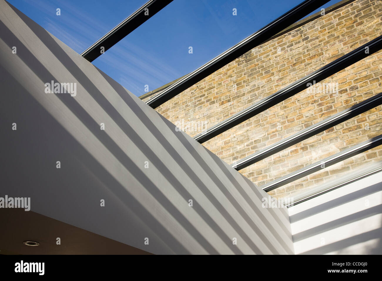 GAP House by Pitman Tozer Detail of natural lighting pouring through the skylight - Stock Image