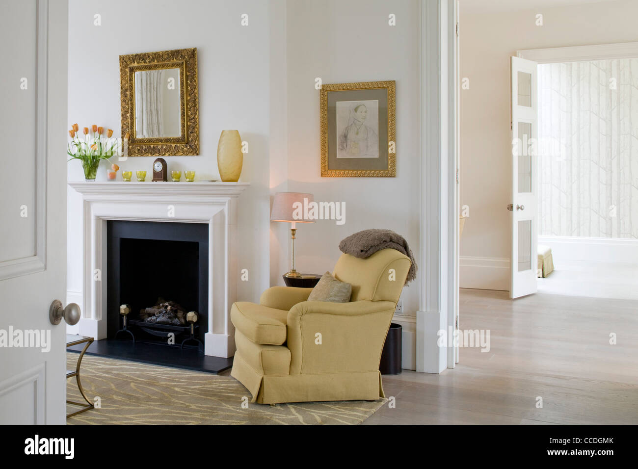 West London Private House 1900s Living Room   Stock Image