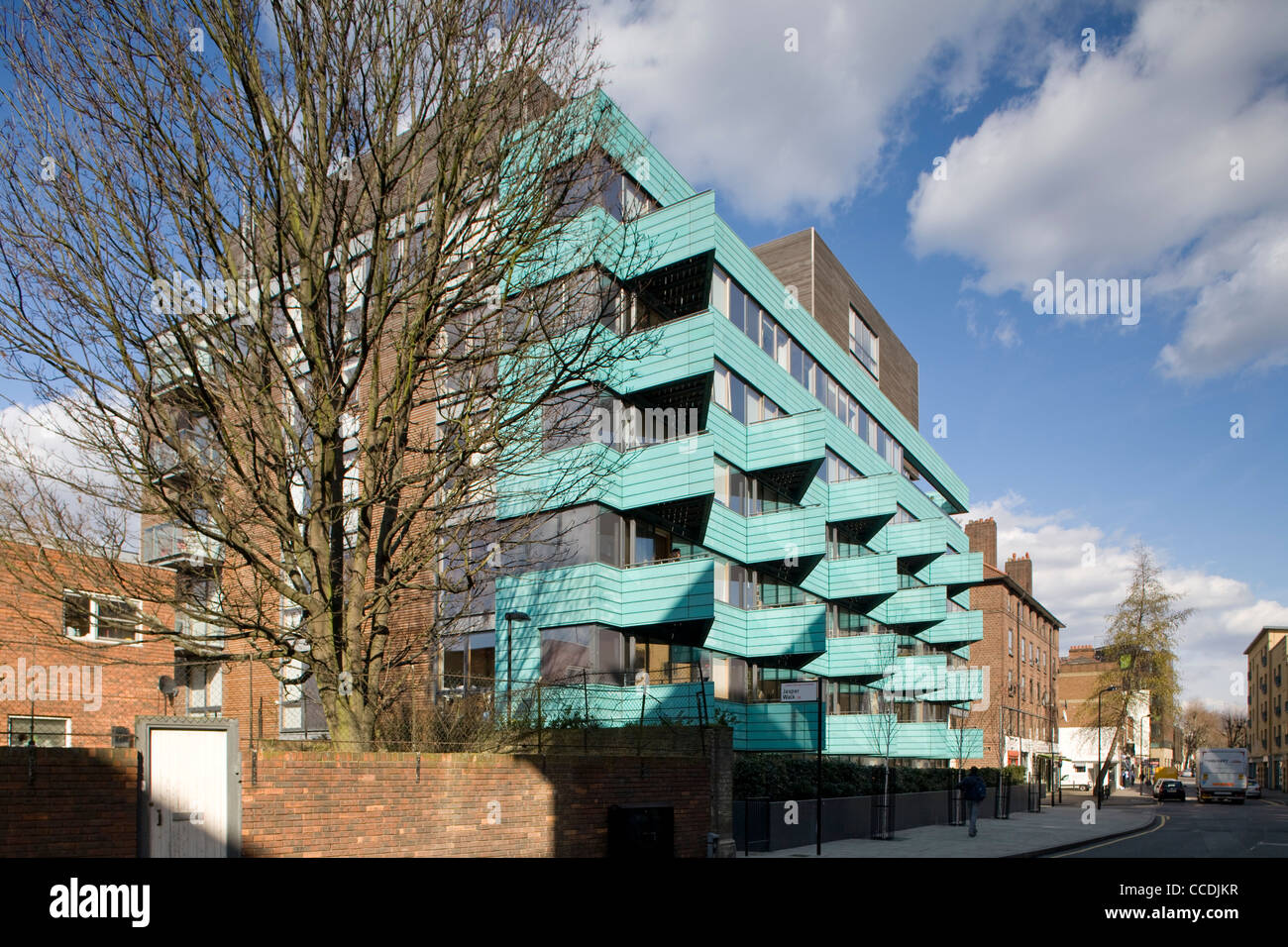 The Scheme Is A Combination Of Sales, Keyworker, Affordable And Shared Ownership Rental Apartments.  The Density Stock Photo