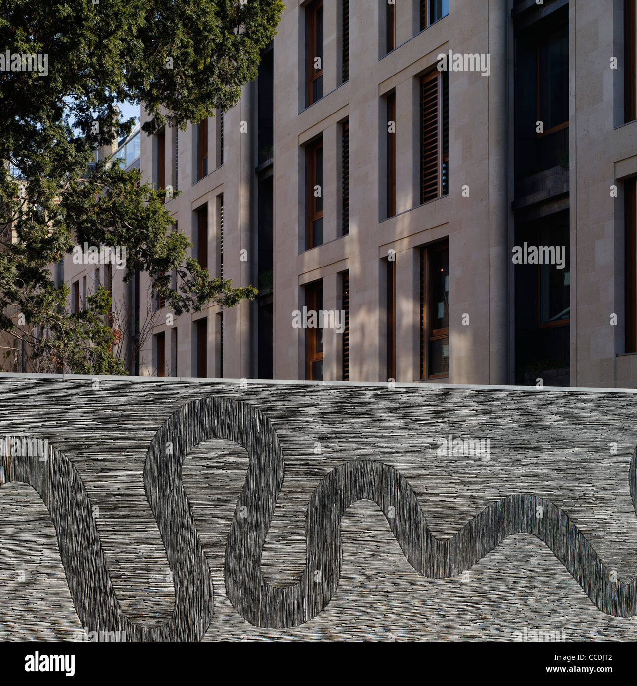 MONTROSE PLACE FLATS STREET ELEVATION WITH ANDY GOLDSWORTHY SLATE