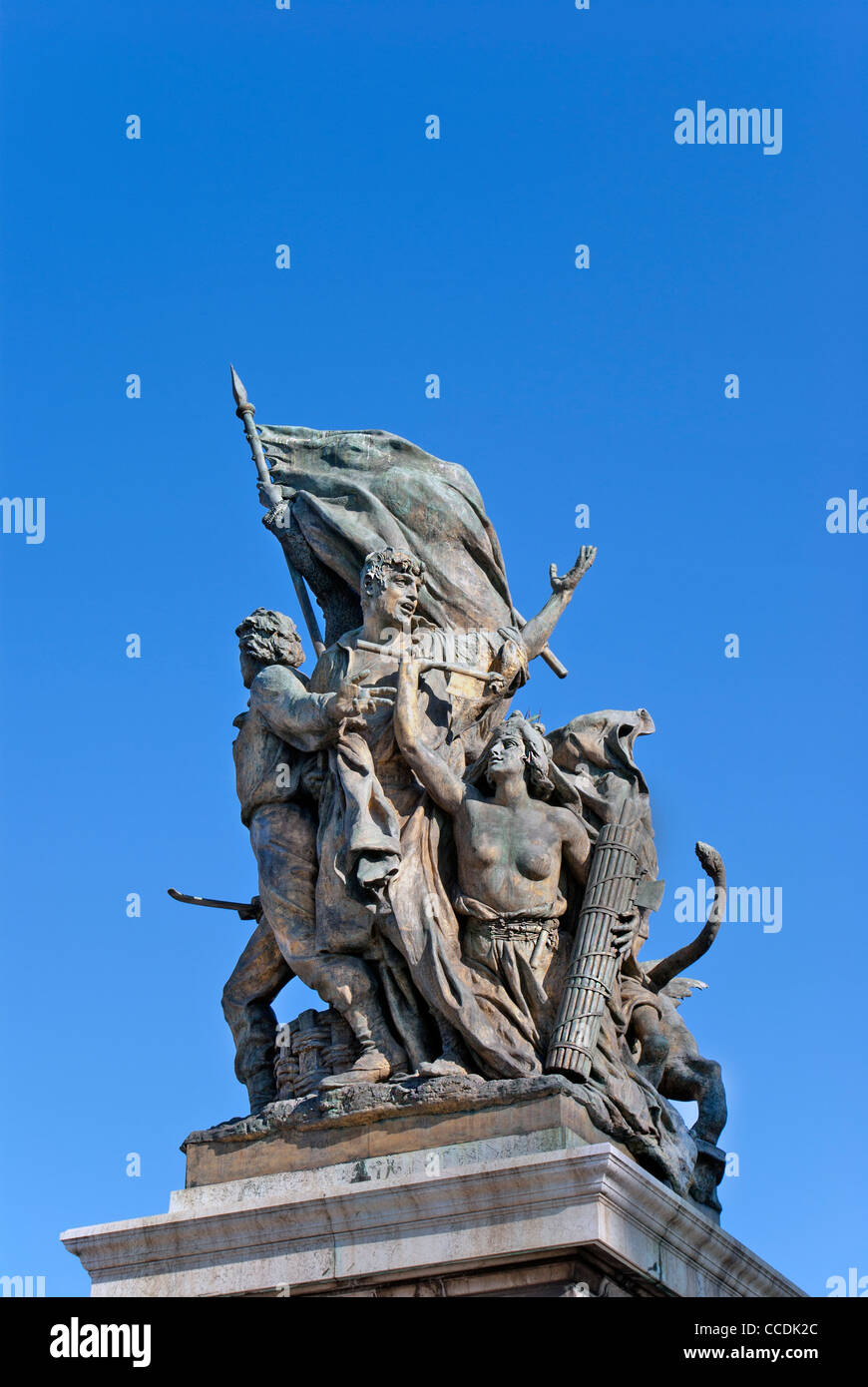 Bronze statue front of Capitolio, Rome, Italy Stock Photo