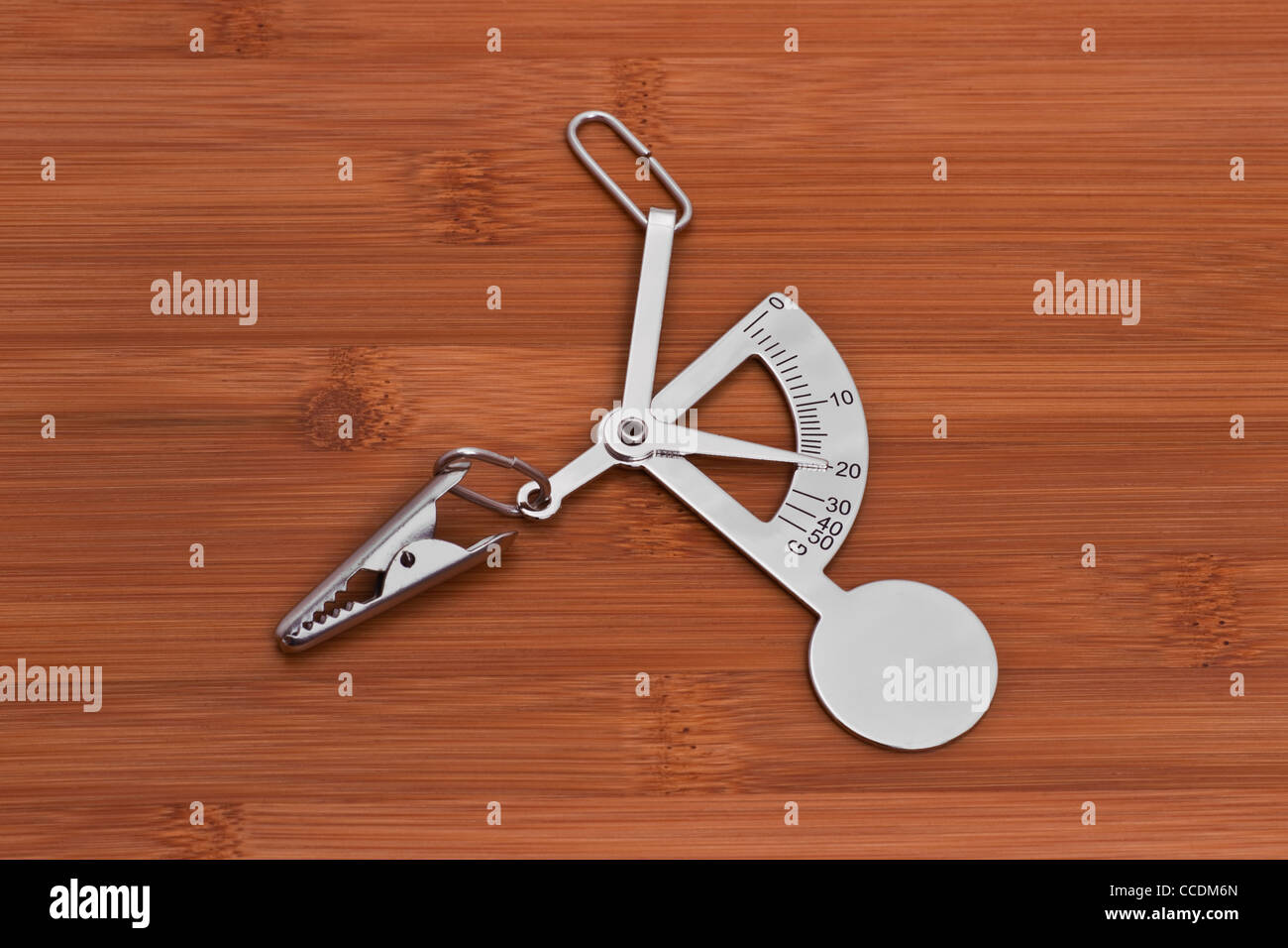 Detailansicht einer Handbriefwaage | Detail photo of a manual letter balance Stock Photo