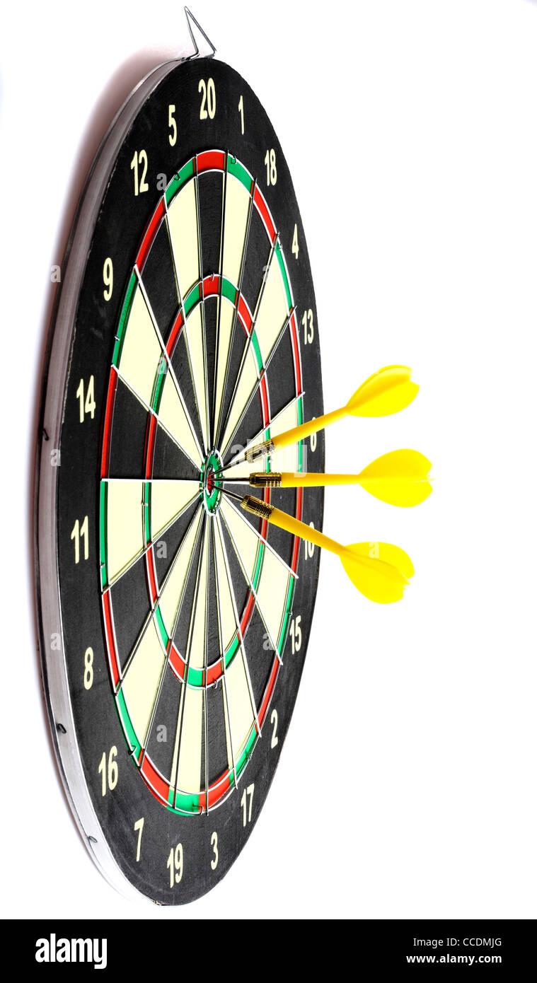 Dartboard Dart Game Throwing Darts Stock Photo 42098184 Alamy