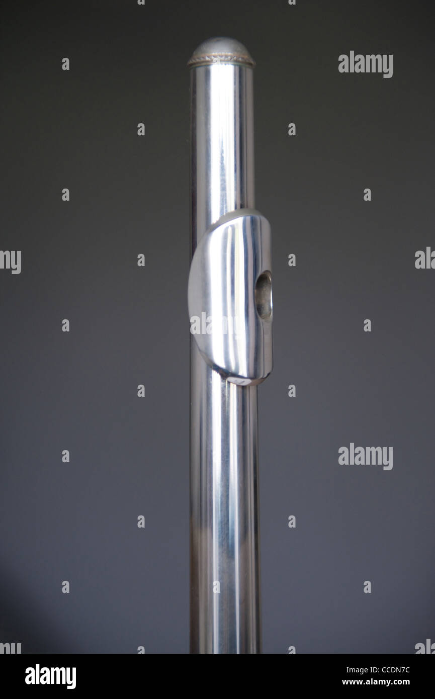 Mouthpiece of a flute - Stock Image