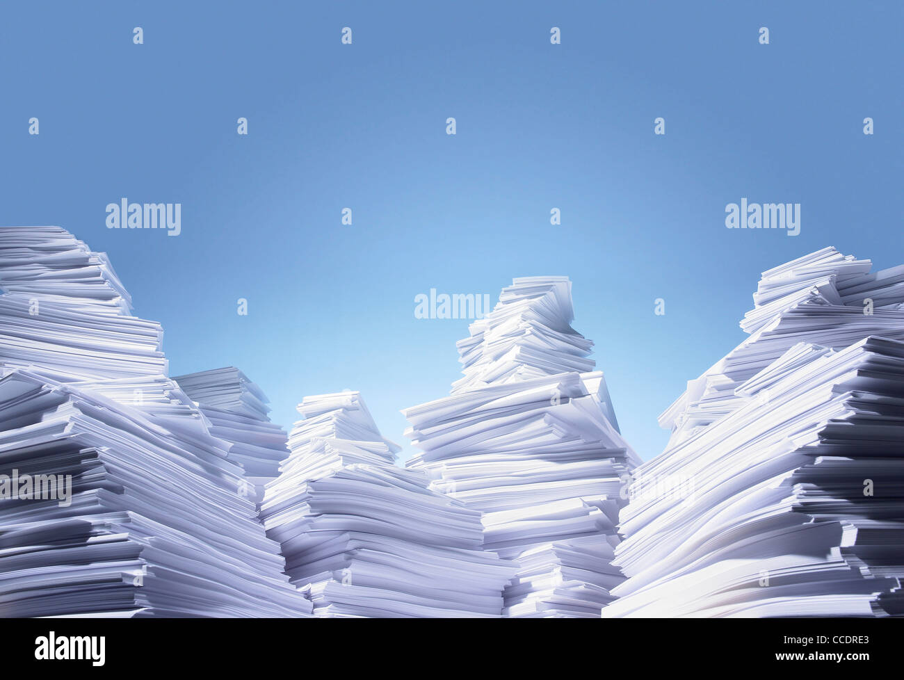 a mountain range made from paper - Stock Image