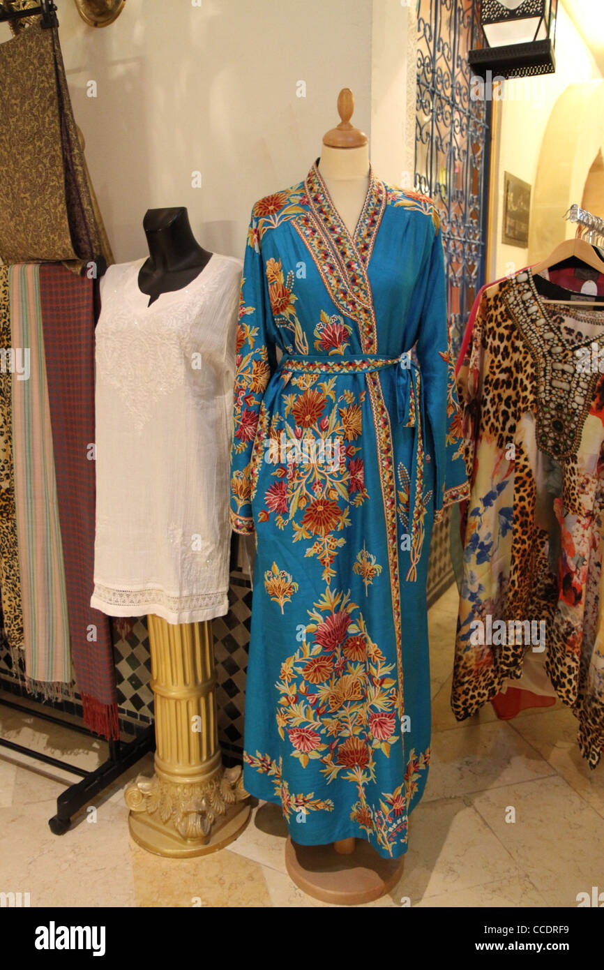 000bcdabf58 Souk Al Bahar near the Burj Khalifa and the Dubai Mall - shop with  traditional arab clothing.