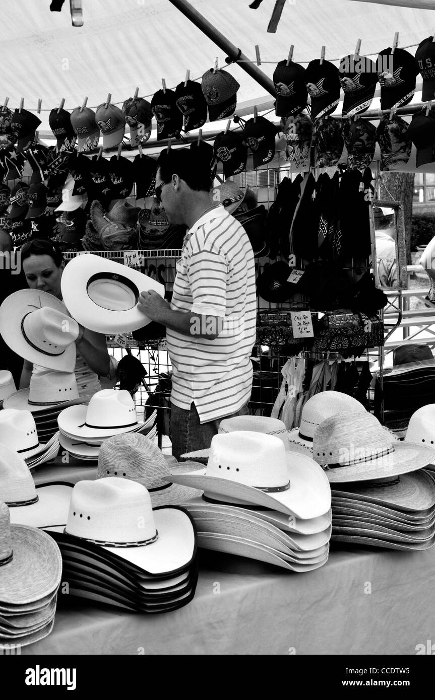Cowboy hats, Texas, USA - Stock Image