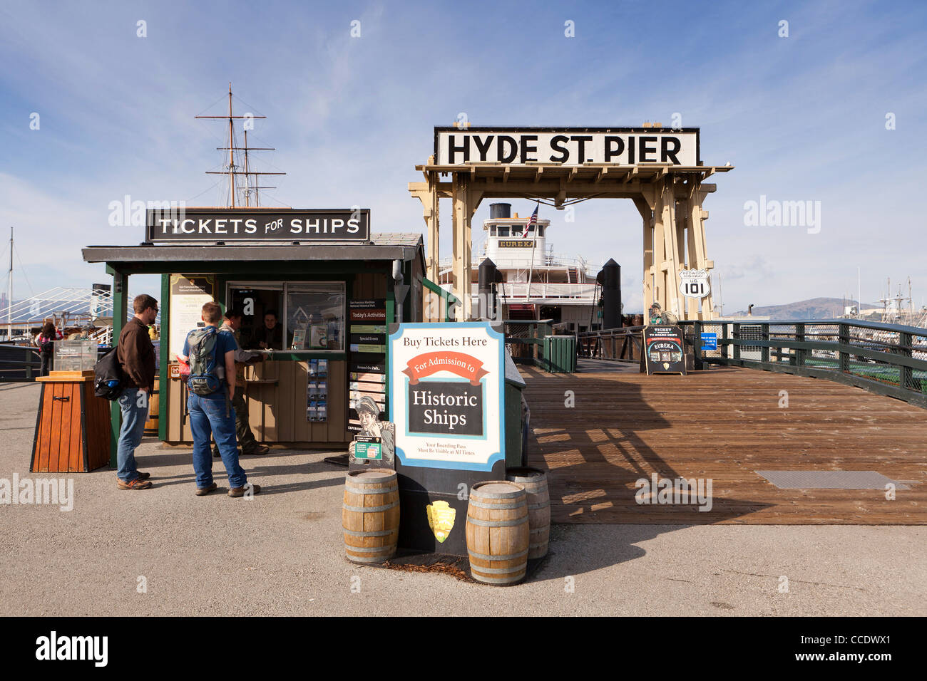 Hyde street Pier - San Francisco, California - Stock Image