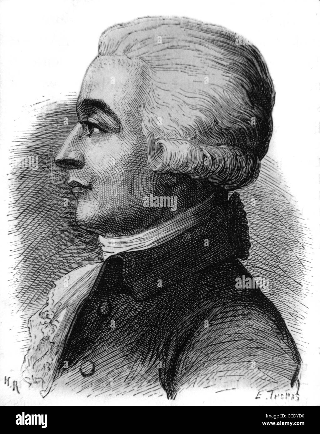 Jean-Pierre Blanchard (1753-1809) French Inventor, Aviation and Ballooning Pioneer. Made World's First Parachute - Stock Image