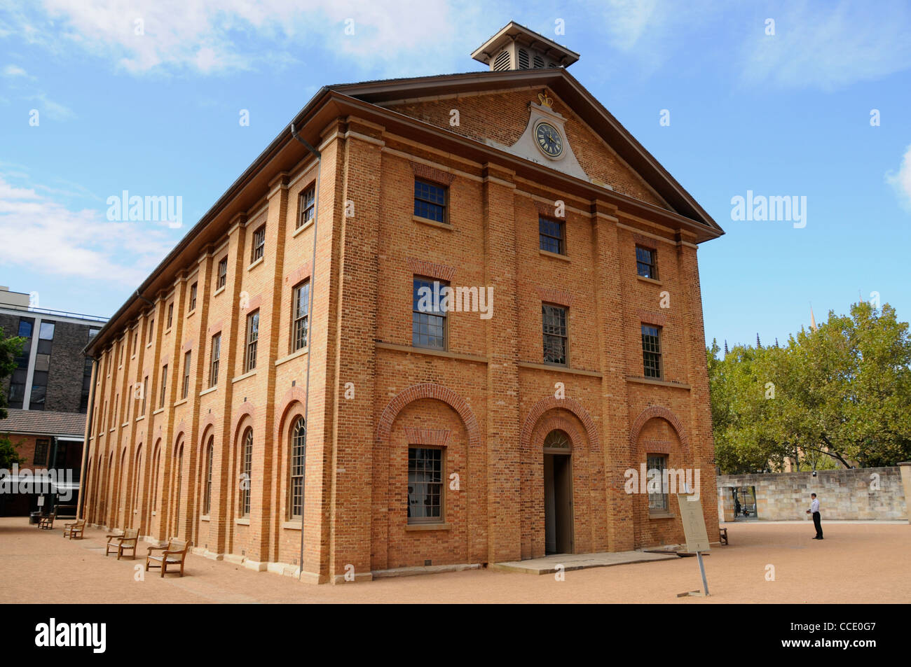 Hyde Park Barracks Museum, Macquarie Street, Sydney New South Wales Australia. This is a former prison housing convicts - Stock Image