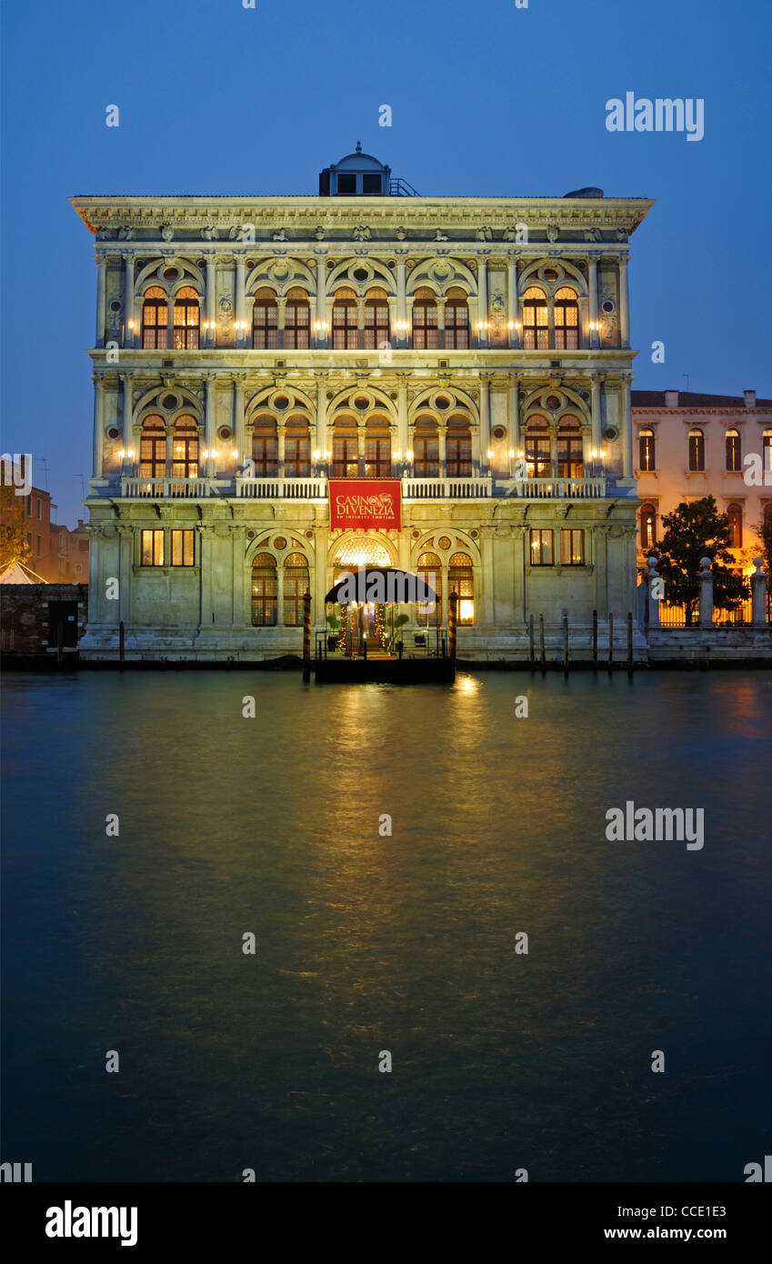 Casino di venezia, Grand Canal, Venice, Adriatic Sea, Italy Stock Photo