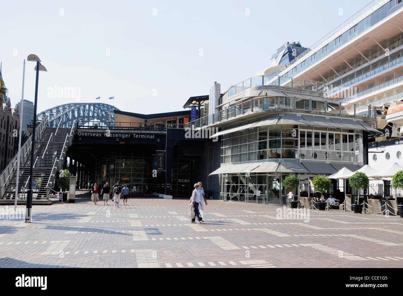 The Overseas Passenger Terminal on Circular Quay in Sydney,New South Wales,Australia - Stock Image