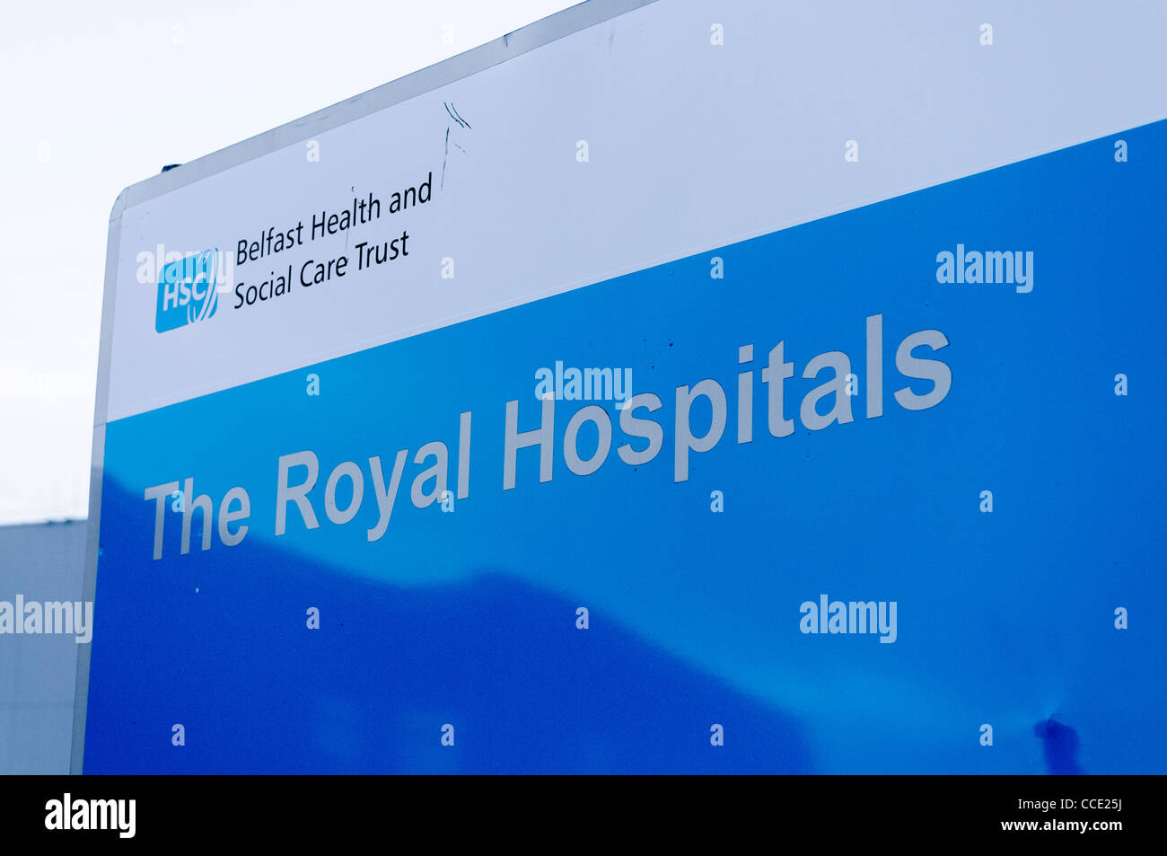 Sign at the Royal [group of] Hospitals, Belfast - Stock Image