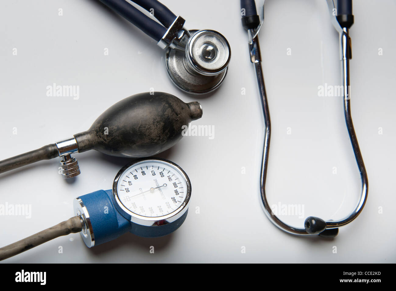 Sphygmomanometer and stethoscope - Stock Image
