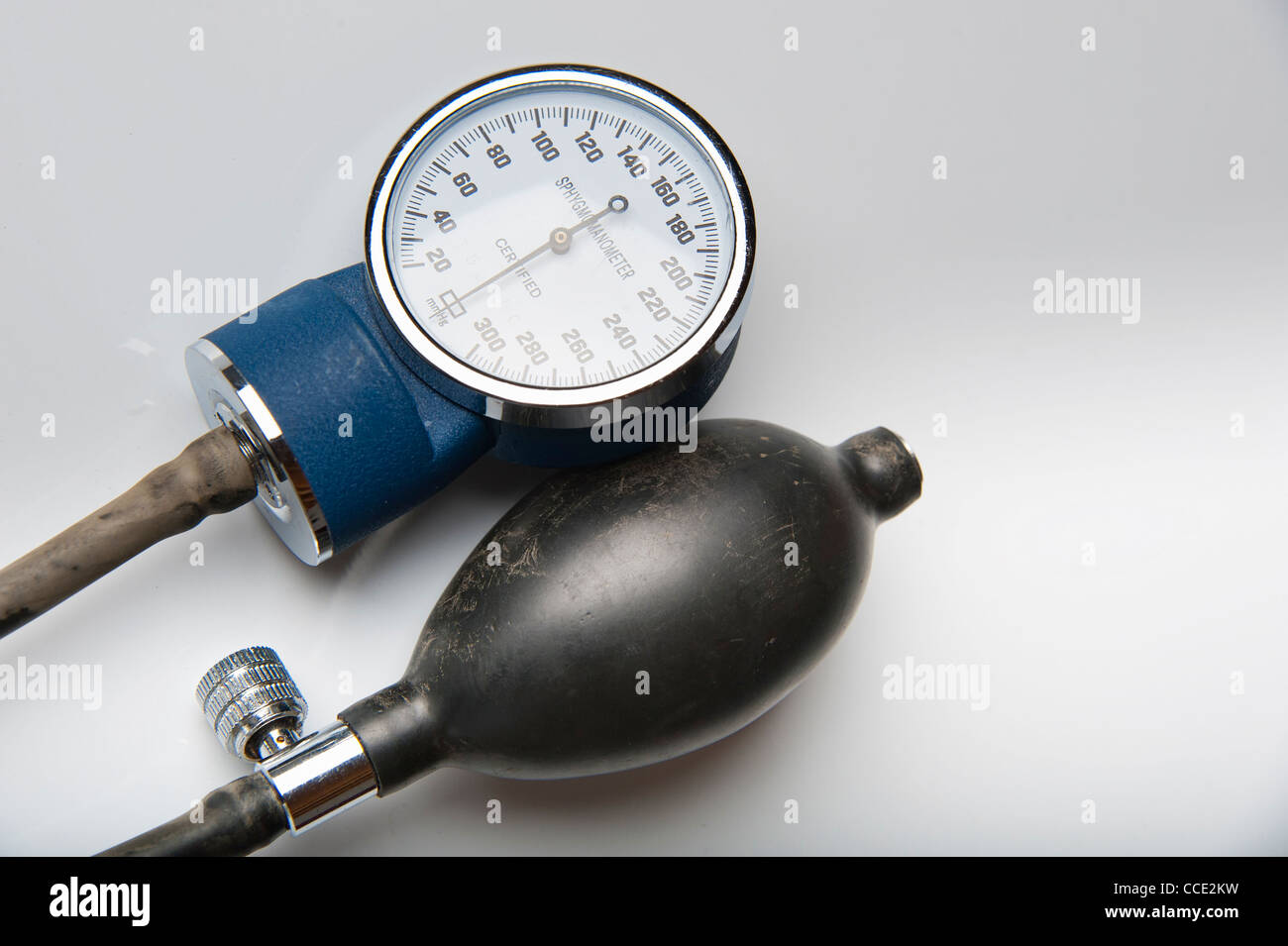 Closeup of Sphygmomanometer - Stock Image