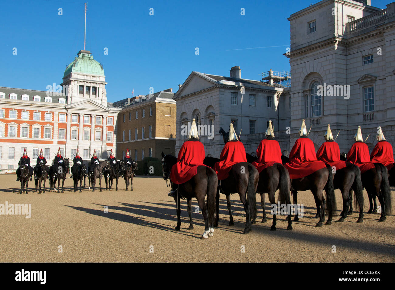 Changing of the guard Horse Guards Parade London England
