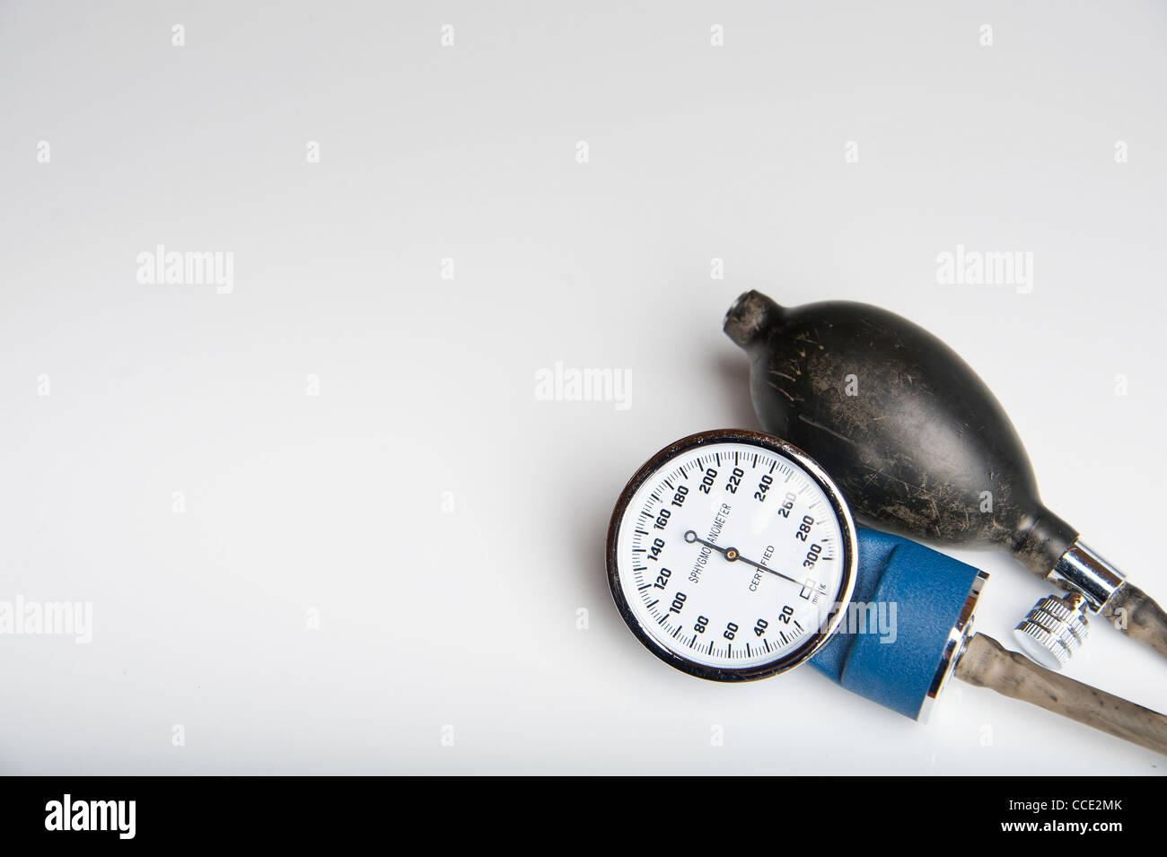 High Blood Pressure - Sphygmomanometer with blank space for advertising - Stock Image