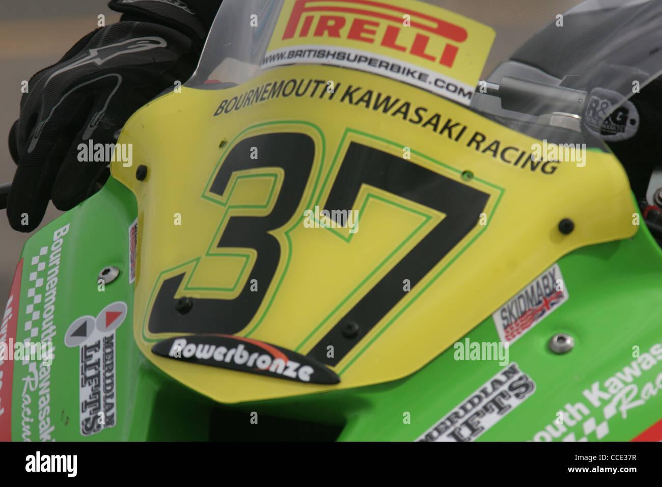 British Superbikes at Croft Circuit - Stock Image