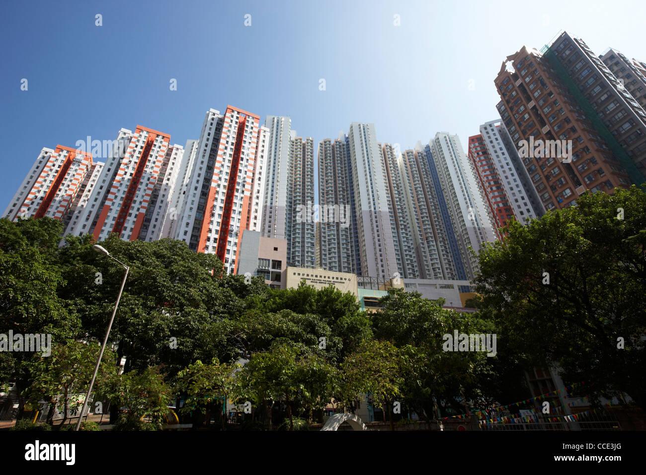 public housing blocks in aberdeen hong kong hksar china asia - Stock Image