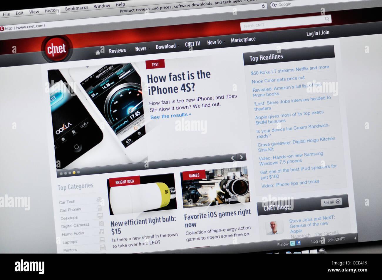 Cnet Com Tech Product Review Website Stock Photo Alamy