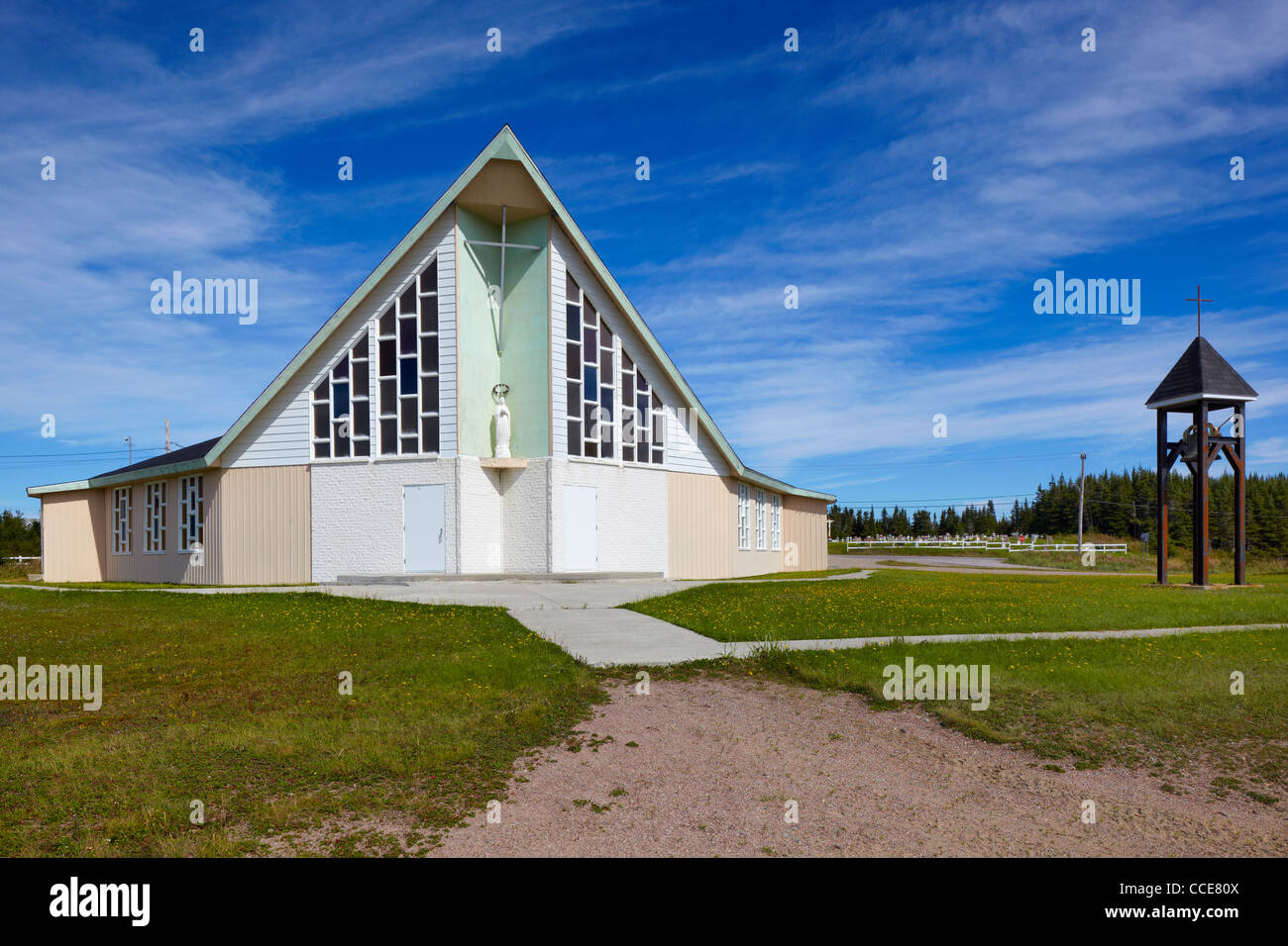 Eglise Marie Mere de l'Eglise, Aguanish, Quebec, Canada Stock Photo