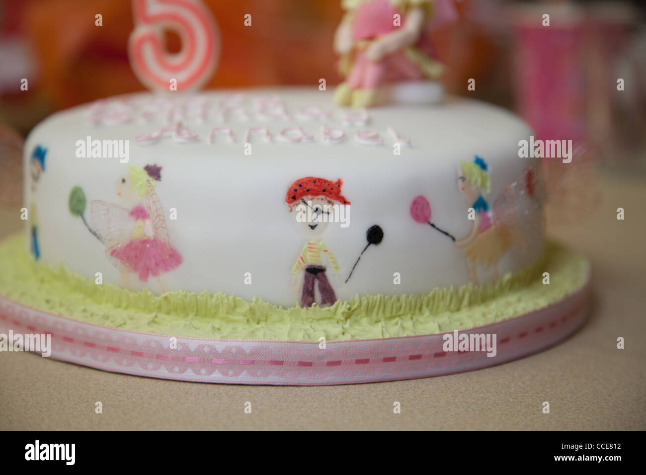 Miraculous Birthday Cake For A Five Year Olds Fairy And Pirate Party Stock Birthday Cards Printable Inklcafe Filternl