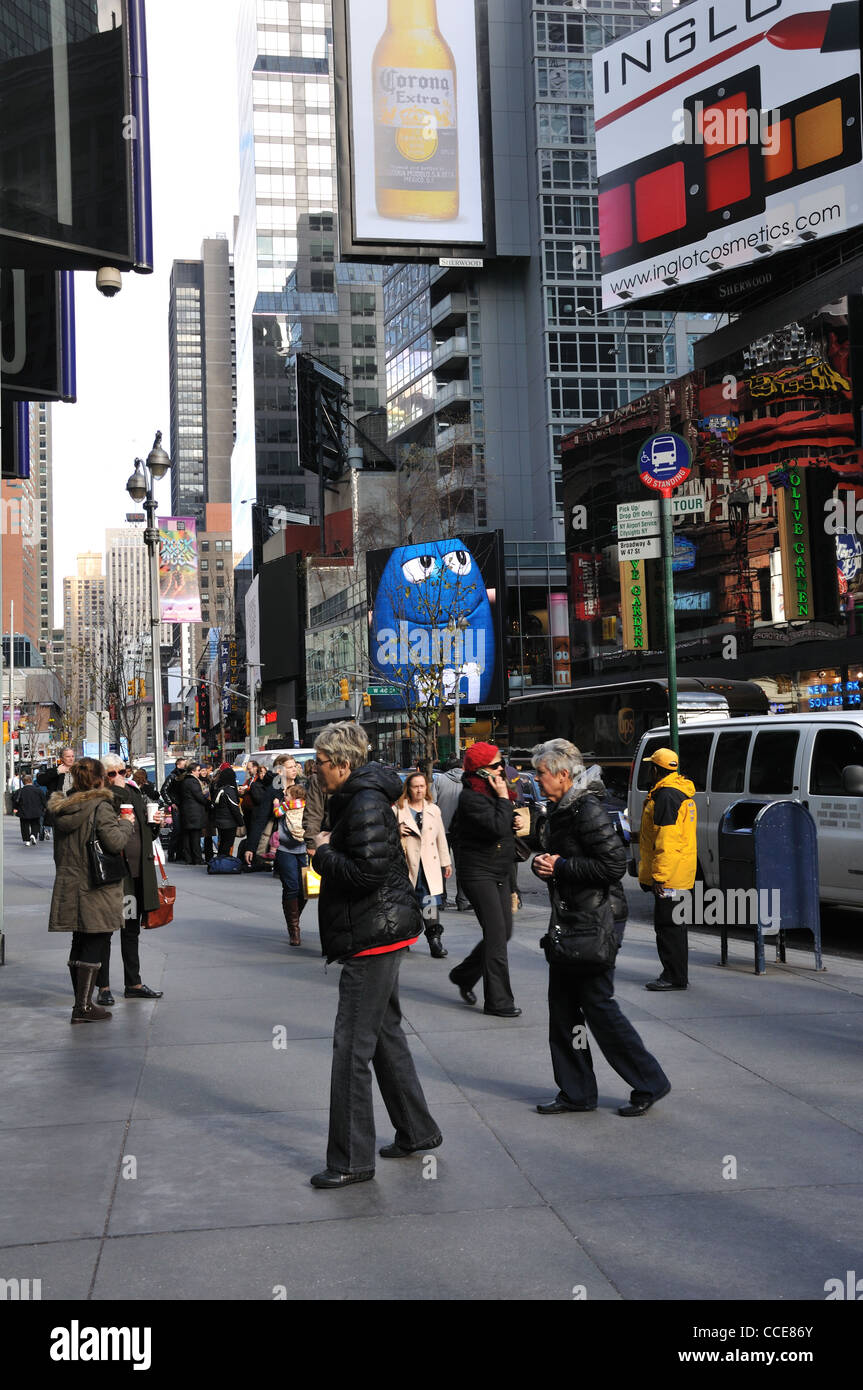 Busy street, New York City, USA - Stock Image