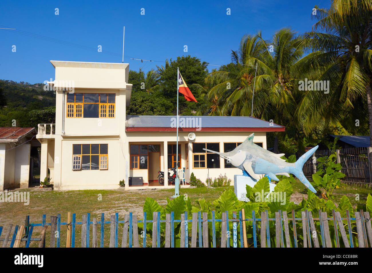 Fishery Office in Com, Timor-Leste, Asia - Stock Image