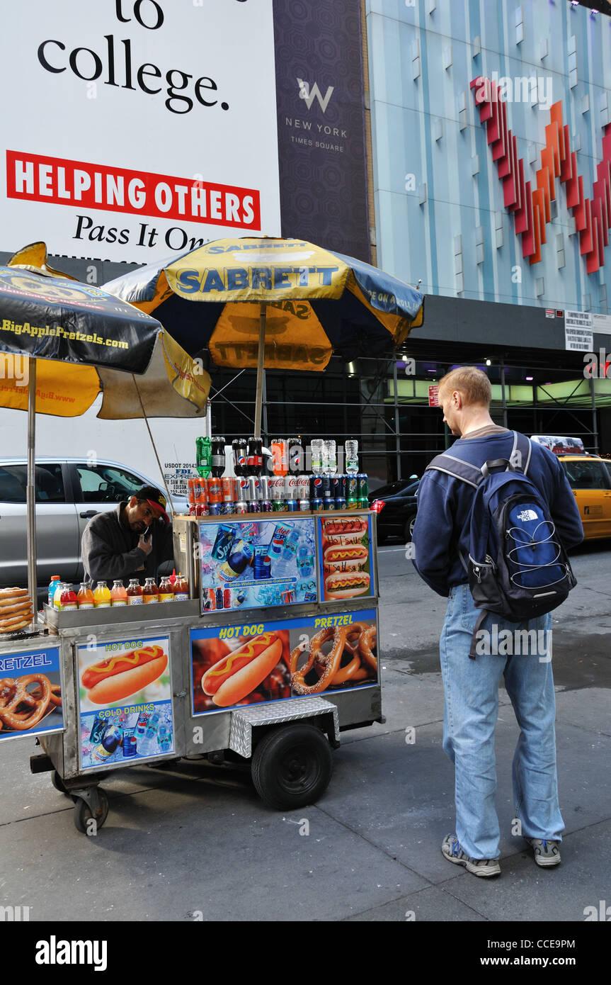 Food stand, New York, USA Stock Photo: 42111628 - Alamy
