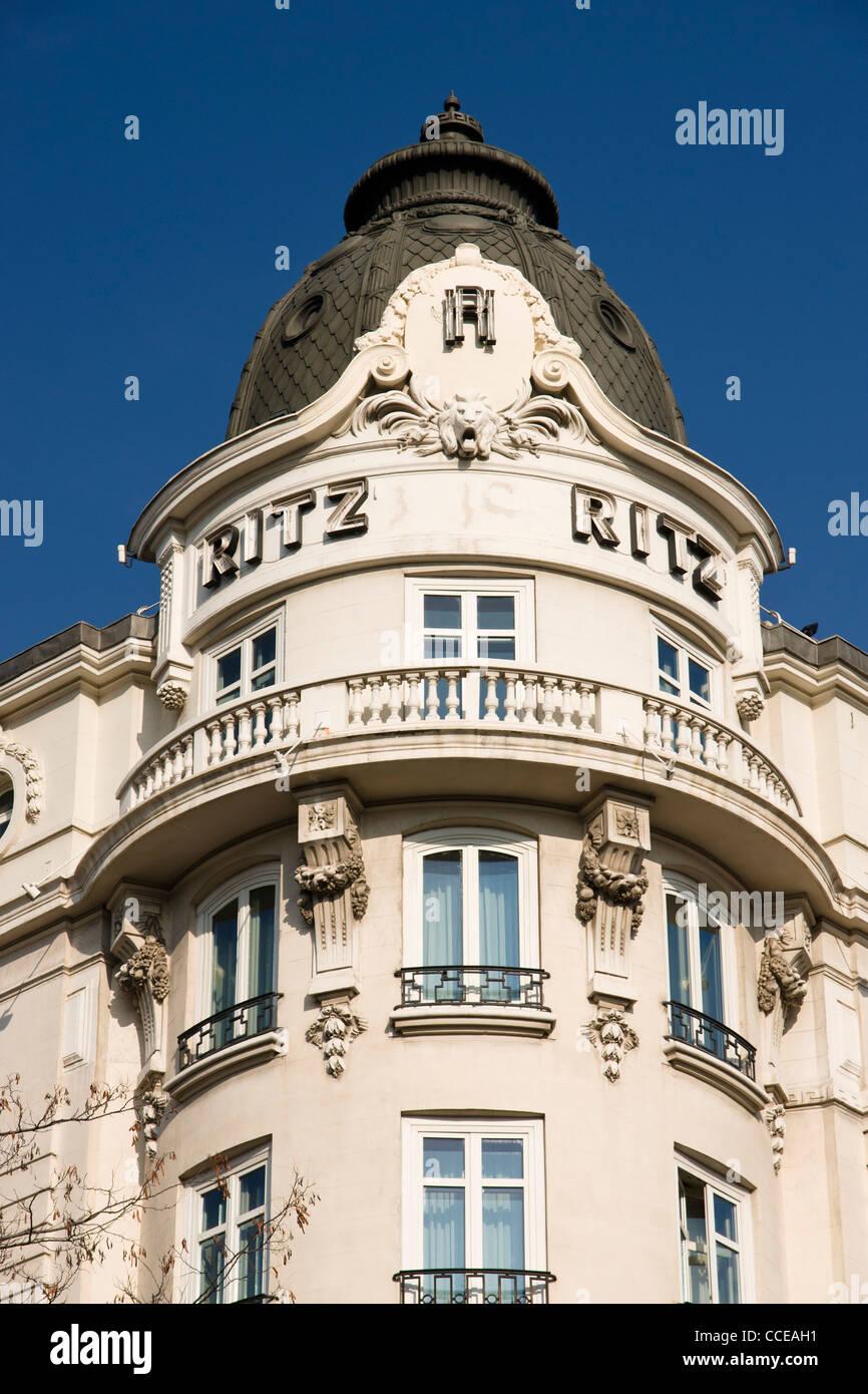 Ritz Hotel, Madrid, Spain. - Stock Image