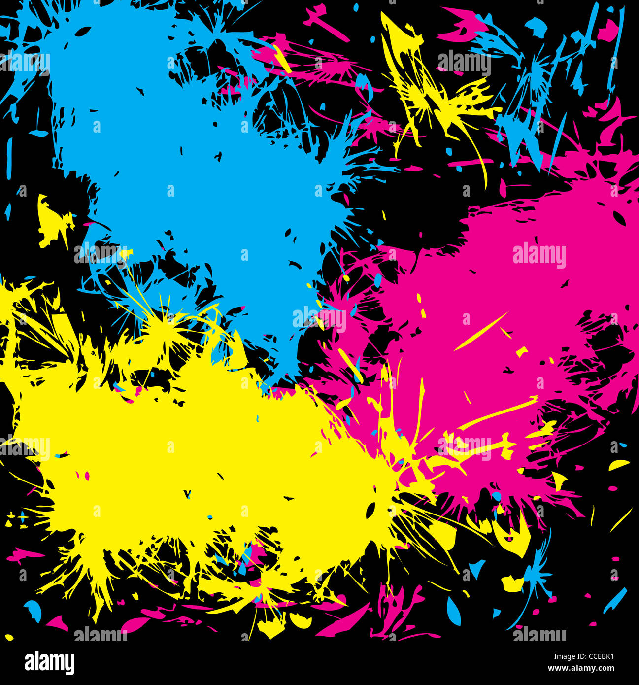 the abstract grunge cmyk background - Stock Image