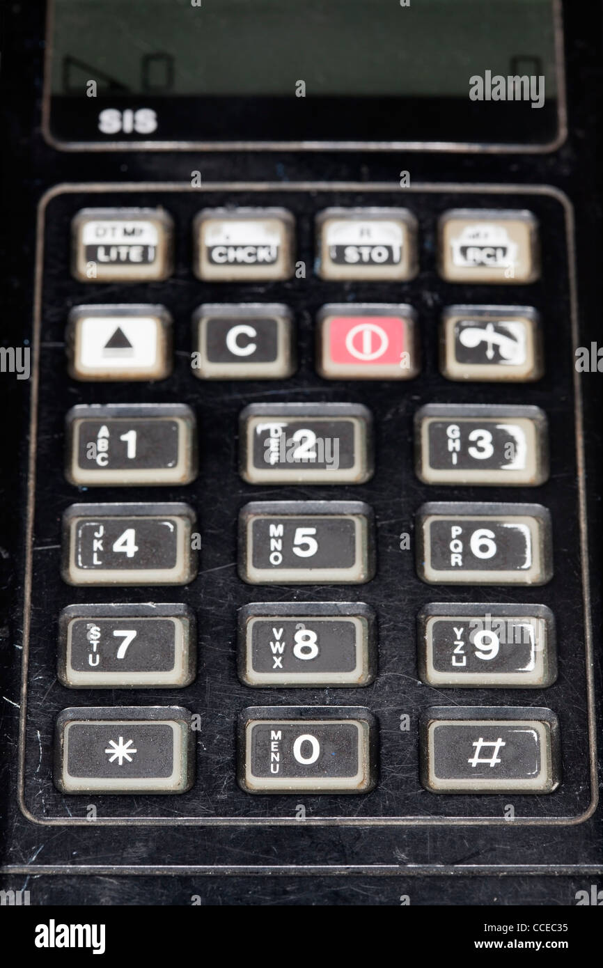 Old Phone Keypad Stock Photos Images Alamy Circuit Board From A Nokia 3310 Mobile Photo Picture And Outdated Technophone Pc117 Cell Image