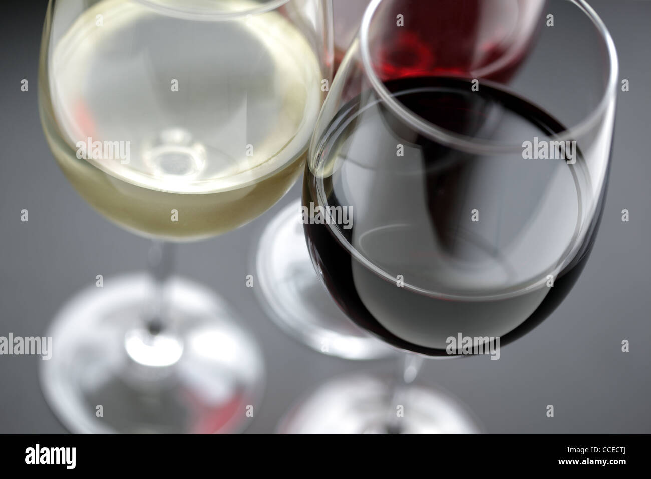 Red white and rose wine - Stock Image