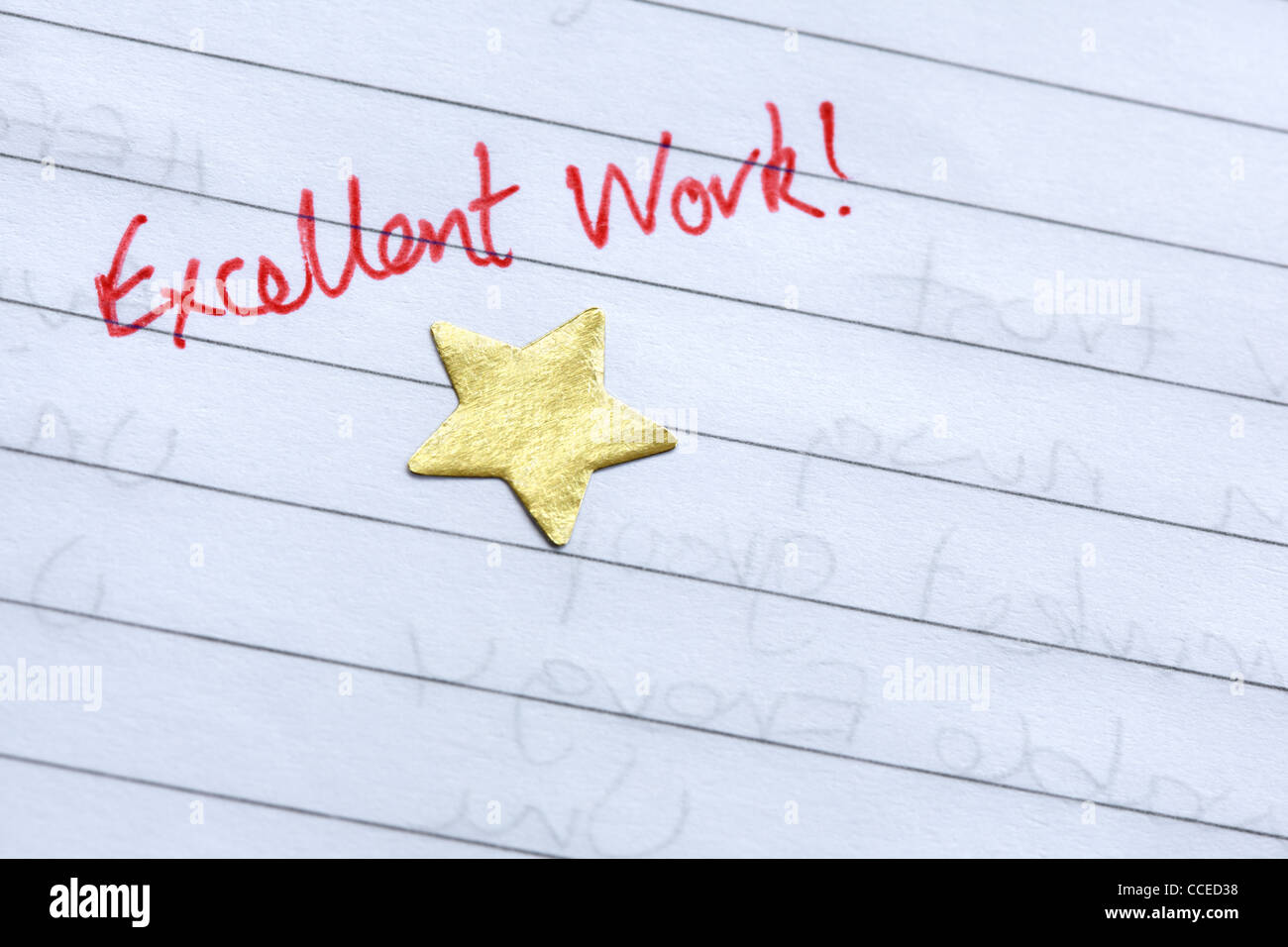 Gold star award - Stock Image