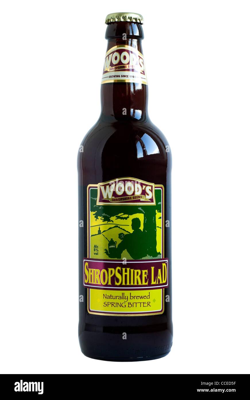 Wood's Shropshire Lad Spring Bitter bottled beer - current @ 2011. - Stock Image
